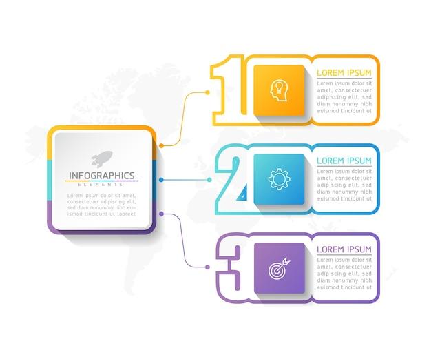 Ilustracja Szablon Projektu Infografiki, Informacje Biznesowe, Wykres Prezentacji Premium Wektorów