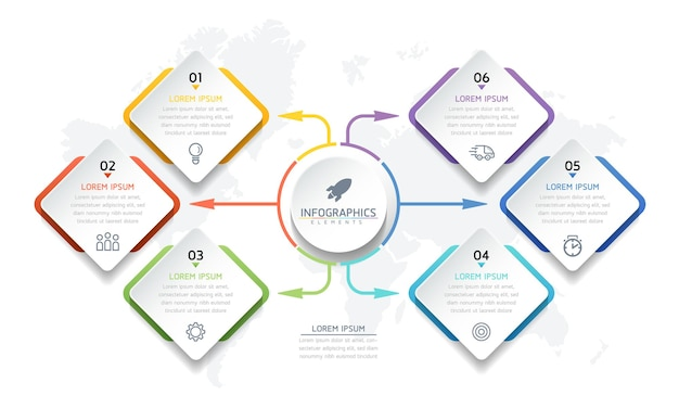Ilustracja szablon projektu infografiki, informacje biznesowe, wykres prezentacji
