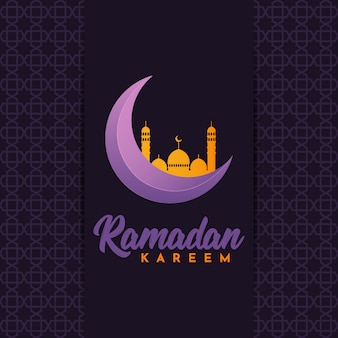 Ilustracja szablon ramadan kareem