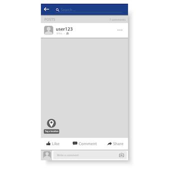 Ilustracja szablon ramki sieci społecznej