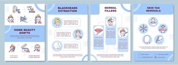 Ilustracja szablonu broszury dotyczącej zabiegów kosmetycznych w domu