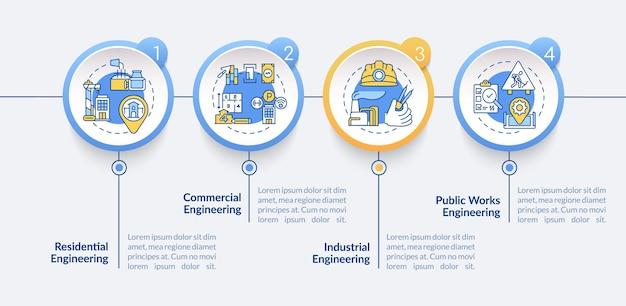Ilustracja szablonu infografiki inżynierii lądowej