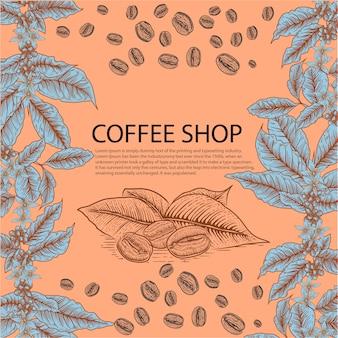 Ilustracja szablonu kawiarni