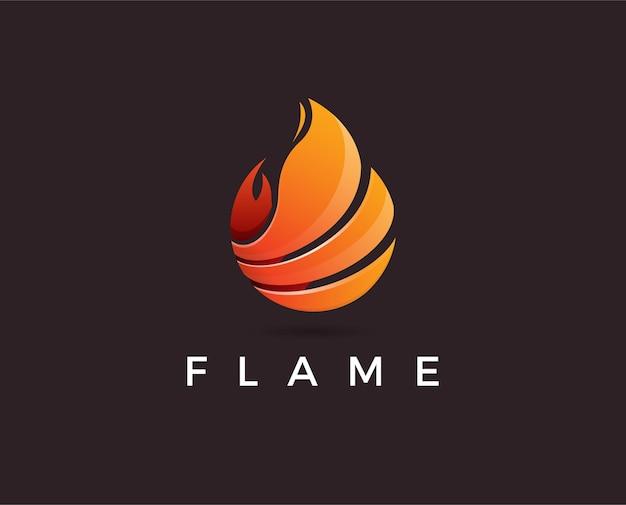 Ilustracja szablonu logo minimalnego płomienia