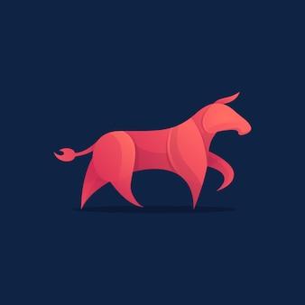 Ilustracja szablonu logo projektu red bull