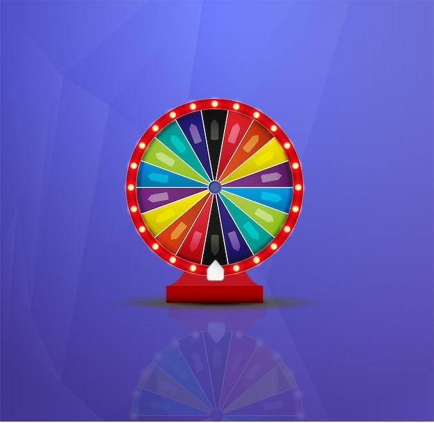 Ilustracja szczęścia loterii koła fortuny. gra hazardowa w kasynie.