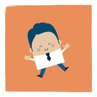 Ilustracja szczęśliwego biznesmena