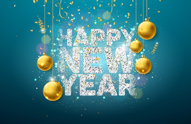 Ilustracja szczęśliwego nowego roku