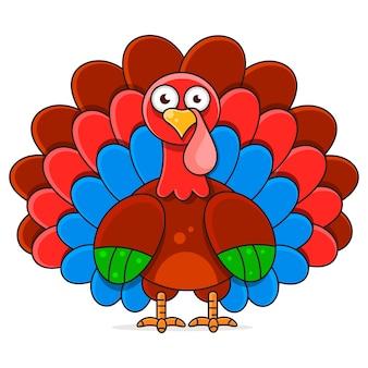 Ilustracja szczęśliwego święta dziękczynienia turcji