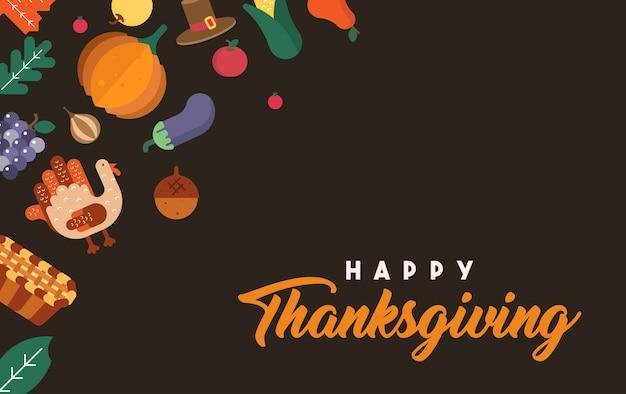Ilustracja szczęśliwy dziękczynienie
