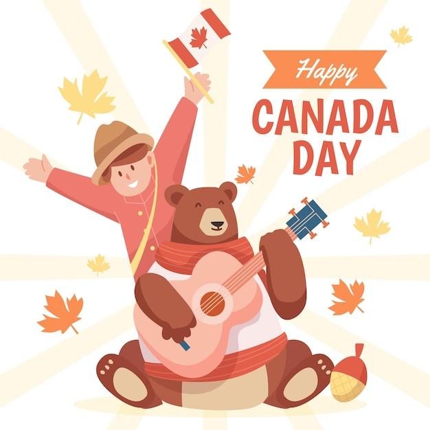Ilustracja szczęśliwy dzień kanady
