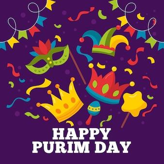 Ilustracja szczęśliwy dzień purim