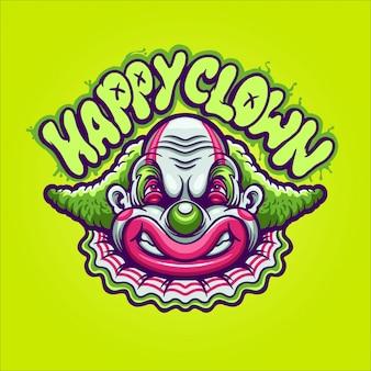 Ilustracja szczęśliwy klaun