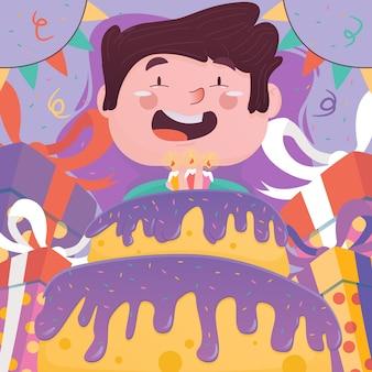 Ilustracja szczęśliwy urodziny