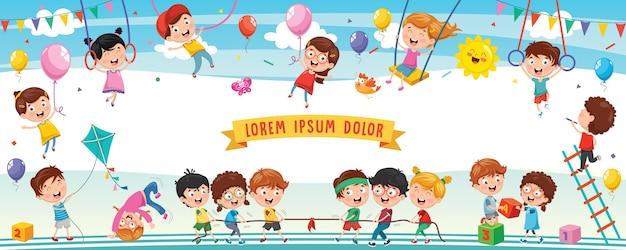 Ilustracja szczęśliwych dzieci