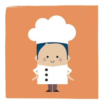 Ilustracja szefa kuchni na stojąco