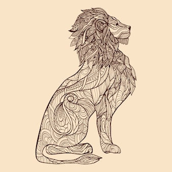 Ilustracja szkic lew