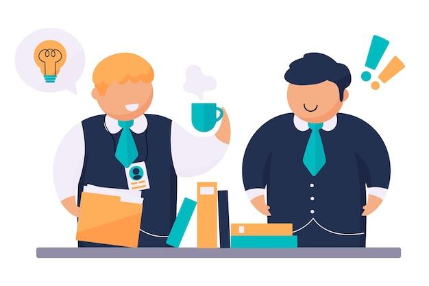 Ilustracja szkolenia zawodowego dla stażystów