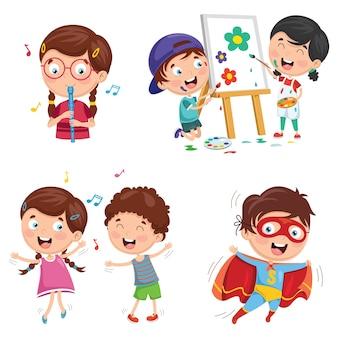 Ilustracja sztuki dzieci