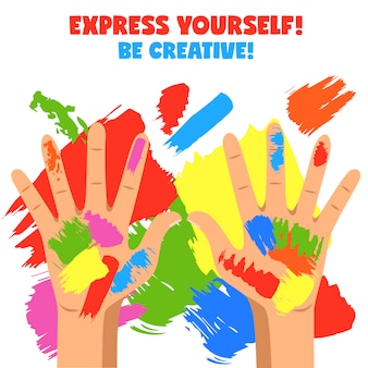 Ilustracja sztuki ręce