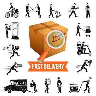 Ilustracja szybka dostawa