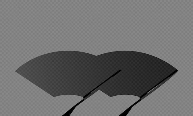 Ilustracja szyby przedniej szyby samochodu lub wycieraczka czyści brud