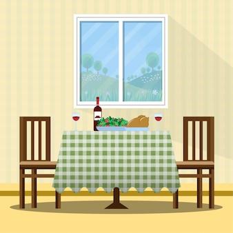 Ilustracja tabela święto dziękczynienia