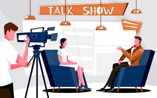 Ilustracja talk show