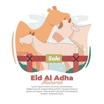 Ilustracja targowiska używanego do sprzedaży zwierząt ofiarnych