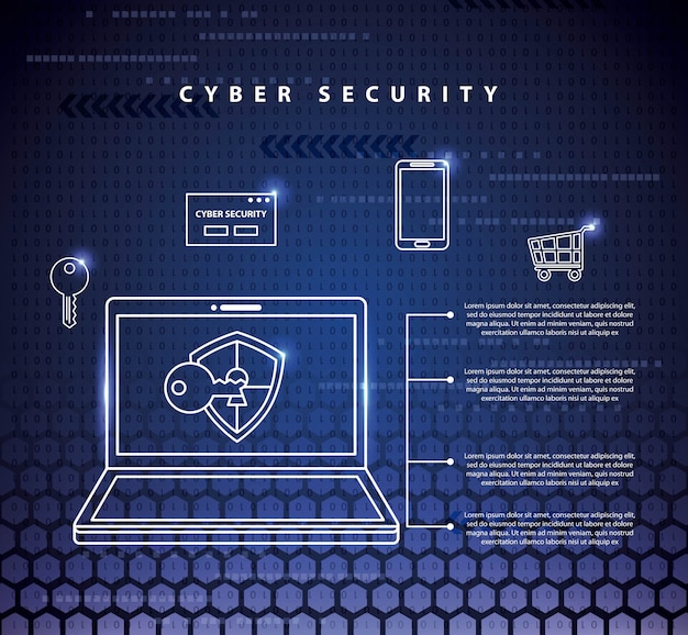 Ilustracja technologii bezpieczeństwa cybernetycznego