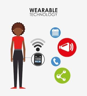 Ilustracja technologii noszenia