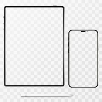 Ilustracja telefonu komórkowego i komputera typu tablet