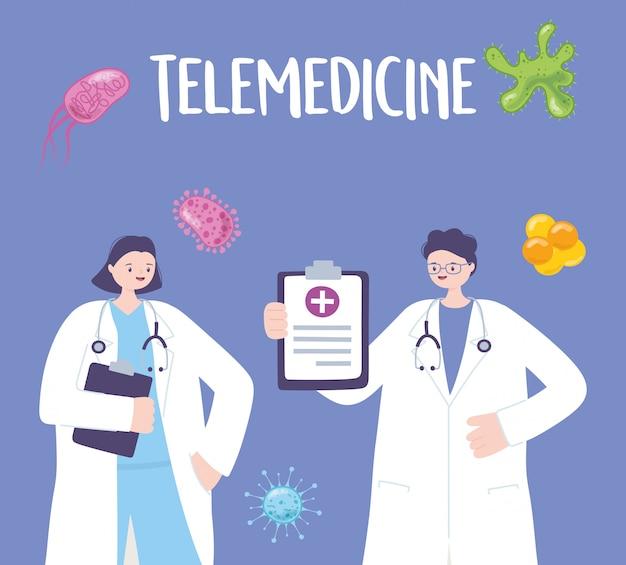 Ilustracja telemedycyny
