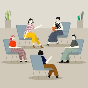 Ilustracja terapii grupowej