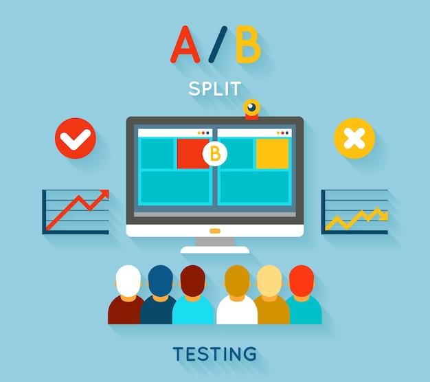 Ilustracja testu porównawczego ab