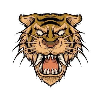 Ilustracja tiger saber tooth