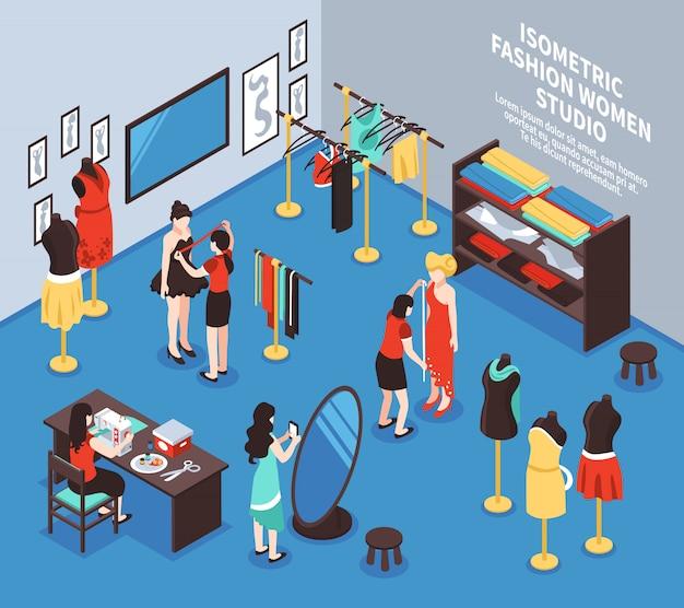 Ilustracja tła atelier