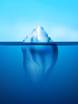 Ilustracja tła góry lodowej