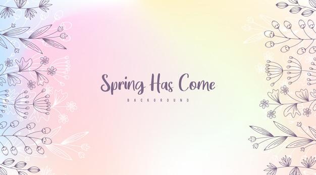 Ilustracja tła wiosny. kwiaty wiosny tło
