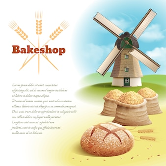 Ilustracja tło chleb