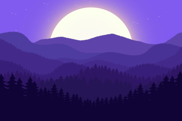 Ilustracja tło krajobraz lasu