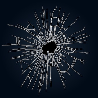 Ilustracja tłuczonego szkła