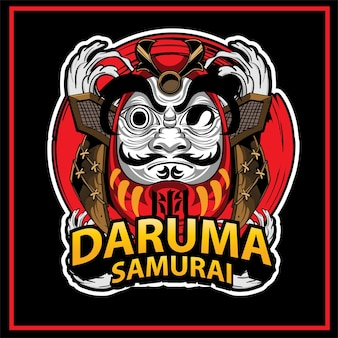 Ilustracja tradycyjnej lalki daruma w japonii