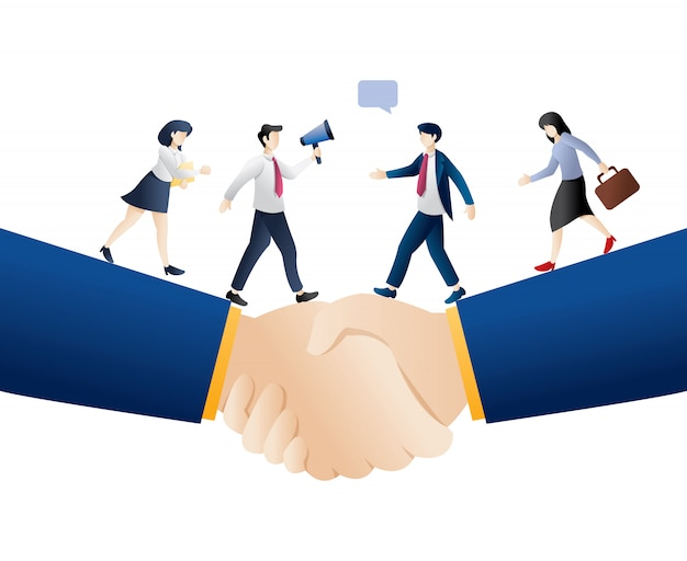 Ilustracja transakcji biznesowych