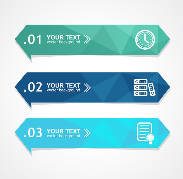Ilustracja transparent opcja trójkąta papieru dla biznesu, finansów