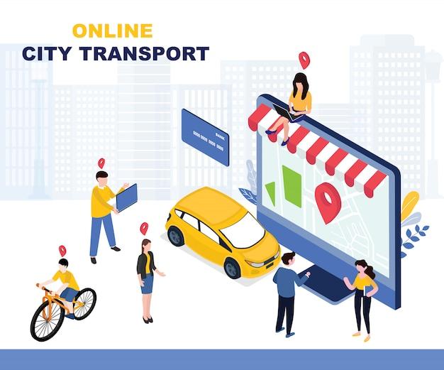 Ilustracja transportu miejskiego