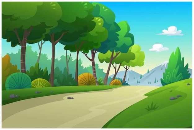Ilustracja trasy samochodowe do podróży.