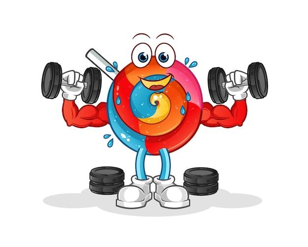 Ilustracja treningu siłowego lollipop
