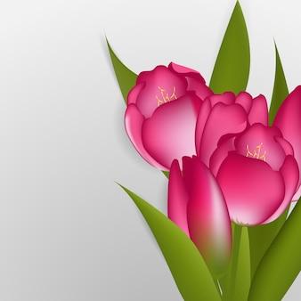 Ilustracja tulipanów. element kwiatowy wzór