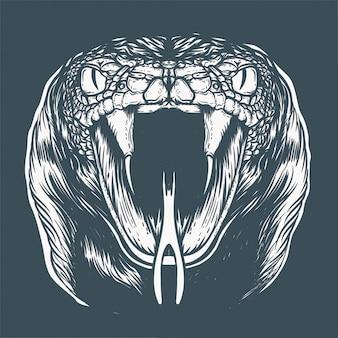 Ilustracja twarz kobry
